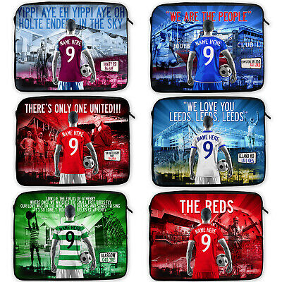 Personalised Football Laptop Case Neoprene Sleeve Cover Travel - All Teams AF • 14.95£