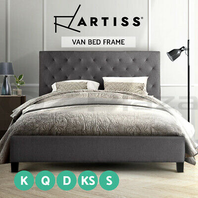 AU239 • Buy Artiss Bed Frame Double Full Queen Size Base Mattress Platform Fabric