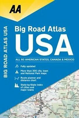AA Big Road Atlas USA By AA Publishing 9780749579968 | Brand New • 10.75£