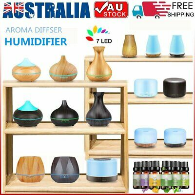 AU19.94 • Buy LED Aroma Aromatherapy Diffuser Essential Oil Ultrasonic Air Humidifier Purifier