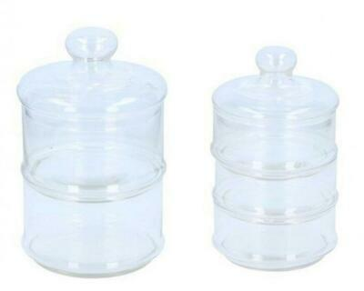 Glass Stacking Confectionery Sweet Storage Jar With Lid • 9.49£