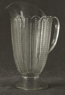 $49.99 • Buy Vintage Kitchen EAPG Clear Glass ZIPPER Panel Pattern 9  Tall Pitcher