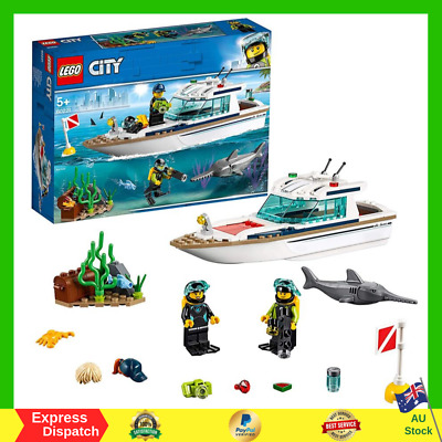 AU23.79 • Buy LEGO City Diving Yacht 60221 Building Toy Vehicle Toy For 5+ Year Old Kid NEW AU