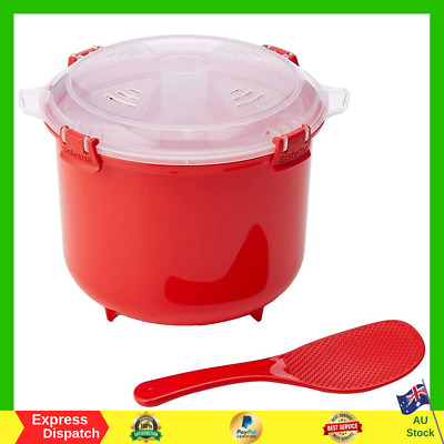 AU13.99 • Buy Sistema Microwave Rice Cooker Steamer With A Pressure Chamber Tray Rice Paddle