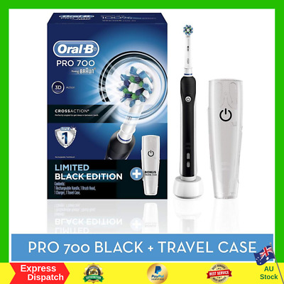 AU60.99 • Buy Braun Oral-B PRO 700 Rechargeable Electric Toothbrush 1 Travel Case And 1 Head