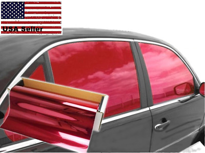 $ CDN21.82 • Buy One Way Mirror Film Reflective UV Window Color Tint (Red, 20  X 5' )