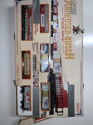Vintage 1995 ANHEUSER-BUSCH O GAUGE 6 UNIT TRAIN SET-USED In EXCELLENT CONDITION • 225$
