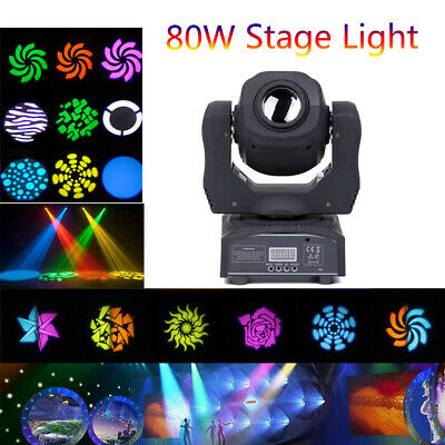 80W Moving Head Stage Light Gobo RGBW LED DMX Spot KTV Disco DJ Party Lighting • 79.99£
