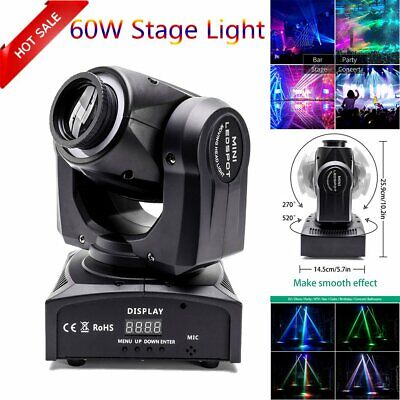 U`King 60W LED RGBW Moving Head Light DJ Party Pattern Gobo Stage Lighting Disco • 79.99£