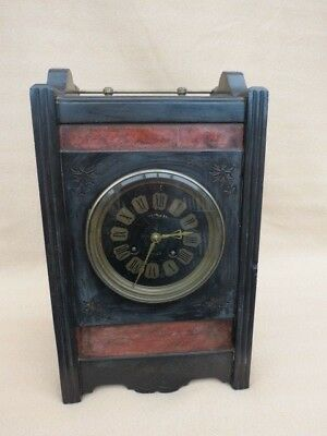 Antique French Aesthetic Movement Slate And Marble Mantel Clock For Restoration • 135£