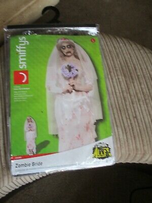 Novelty Zombie Bride Women Halloween Costume Regular Size Unworn. • 6£
