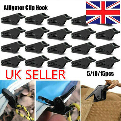 5/10/15Pcs Tent Awning Clip Clamp Tarp Clips Snap Hanger Tent Camping Accessory • 3.73£
