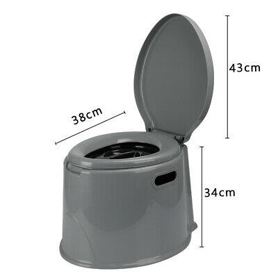 AU42.99 • Buy 6L Outdoor Portable Toilet Camping Potty Caravan Travel Tent Hiking Camp Boating