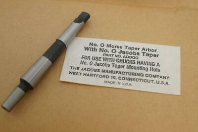 $26.24 • Buy New Original Jacobs 0 MT Morse Taper To No.0JT Drill Chuck Arbor A0000. USA Made