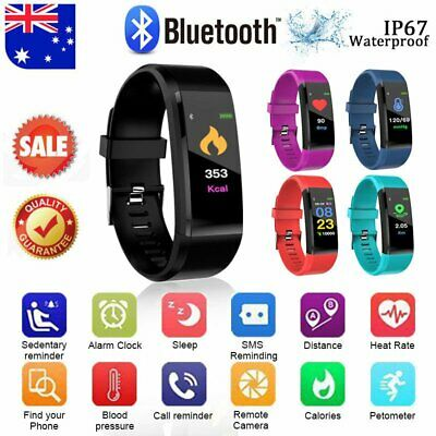 AU19.78 • Buy Fitness Smart Watch Activity Tracker Men Kids Fitbit Android IOS Heart Rate CO