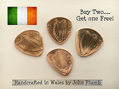 $ CDN7.77 • Buy Handcrafted Irish Penny Coin Guitar Pick / Plectrum . Various Years Available .