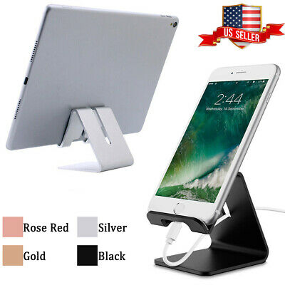 $4.99 • Buy Universal Cell Phone Desk Stand Holder Aluminum For Tablet IPad IPhone X Samsung