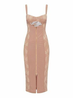 AU80 • Buy New Alice Mccall Loveland Midi Dress - Nude Size 12 - Rrp $325