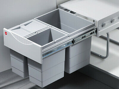 £129.67 • Buy Waste Bin, Pull Out, 1x 18, 2x 8 Liters, Hailo Space Saving Tandem (502.70.833)