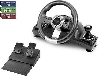 $118.95 • Buy Racing Steering Wheel Shifter Pedal Set For Playstation 4 PS4 Pro Xbox One S PS3