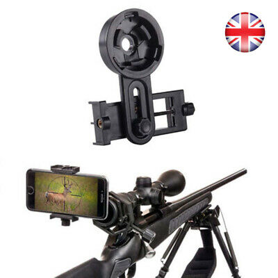 Mobile Phone Telescope Adapter Holder Mount Bracket Spotting Scope UK SELLER • 10.95£