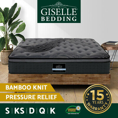 AU339 • Buy Giselle Bed Mattress Queen Double King Single Pocket Spring Foam Bamboo Charcoal