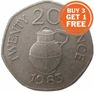 20p Guernsey Elizabeth 2nd Choice Of Date 1982 To 2012 Twenty Pence • 4.99£