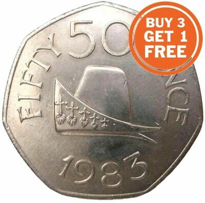 50p Guernsey Elizabeth 2nd Choice Of Date 1969 To 2012 Fifty Pence Old And New • 4.99£