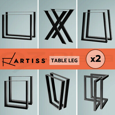 AU52.95 • Buy Artiss Coffee Dining Table Legs Steel Industrial Bench Metal Box Trapezoid Black