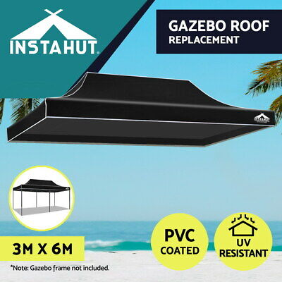 AU64.90 • Buy Instahut Gazebo 3x6 Pop Up Marquee Replacement Roof Outdoor Wedding Tent Black