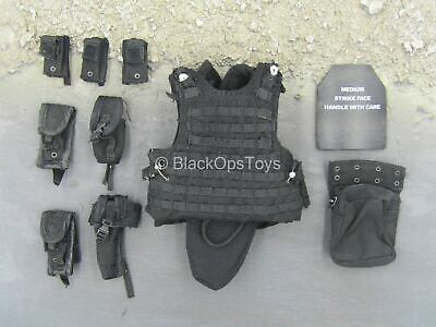 $38 • Buy 1/6 Scale Toy USMC - 2ND FAST - Black Plate Carrier Vest W/Pouch Set