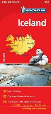 Iceland - Michelin National Map 750 Map 9782067211872 | Brand New • 5.69£