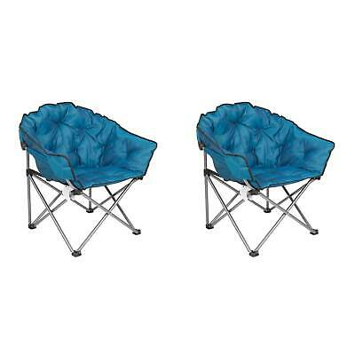 $169.99 • Buy Mac Sports Folding Padded Outdoor Club Chair With Carry Bag, Blue/Black (2 Pack)