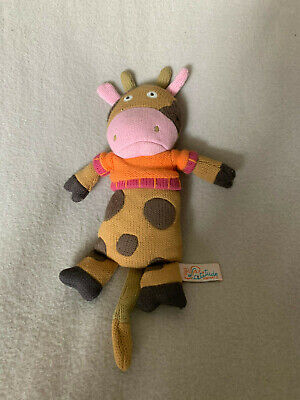 Latitude Enfant Knitted Cow Comforter Soother Soft Toy • 8.95£