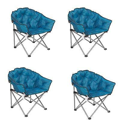 $326.99 • Buy Mac Sports Folding Padded Outdoor Club Chair With Carry Bag, Blue/Black (4 Pack)