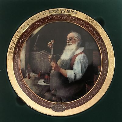 $ CDN79.99 • Buy Santa In His Workshop Norman Rockwell's Christmas Memories 2000 Gold Plate