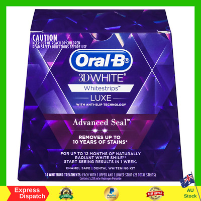 AU31.99 • Buy Oral B 3D White Luxe Advanced Seal Teeth Whitening White Strips 14 Pack NEW AU