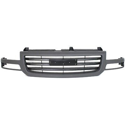$115.08 • Buy Grille For 2003-2007 GMC Sierra 1500 2003 Sierra 1500 HD Silver Plastic