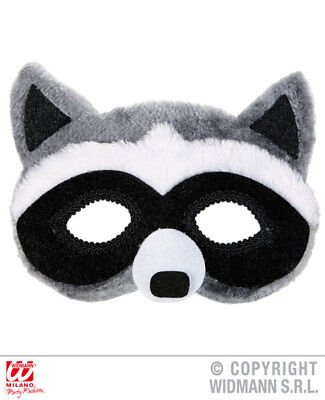Plush Raccoon Eyemask Animal Masquerade Ball Fancy Dress Accessory • 9.09£