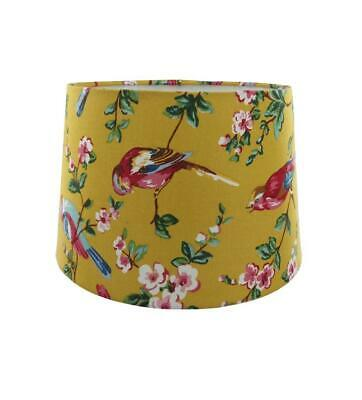 £14.98 • Buy Ochre Yellow Rio Fabric Empire Drum Lampshade Table Or Ceiling Light Shade 28cm