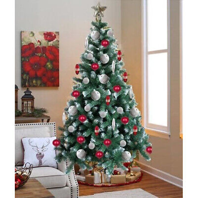 6ft Christmas Tree Green Decoration Thick Plant Artificial Xmas Stand Festive • 27.95£