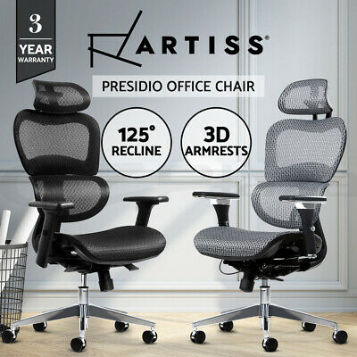 AU272.95 • Buy Artiss Office Chair Gaming Chair Mesh Computer Chairs Recliner Black Grey