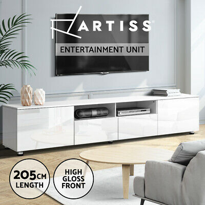 AU199.95 • Buy Artiss TV Cabinet Entertainment Unit Stand High Gloss Furniture 205cm White