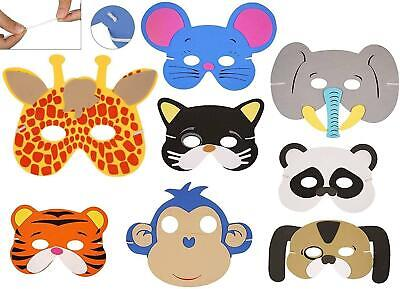 8 Kids Foam Animal Masks Dressing Up Party Loot Bag Fillers Jungle Party Toys • 3.59£