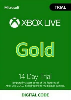 $4.10 • Buy [INSTANT] XBOX LIVE 14 Day GOLD Trial Membership Code 2 Weeks 14 Days