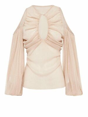 AU80 • Buy New Alice Mccall Spell Long Sleeve Top In Nude  -size 12 - Rrp $245