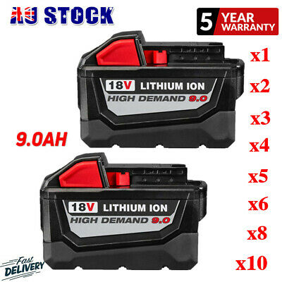 AU65.99 • Buy 18V Battery For Milwaukee HD 9.0Ah Lithium M18B 48-11-1850 48-11-1828 48-11-1840