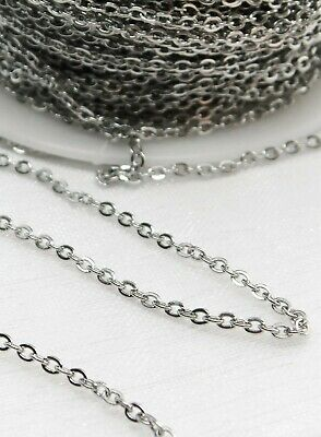 Stainless Steel 304 Trace Cable Loose Chain Jewellery Making DIY 1m 2m 5 Metres • 2.45£