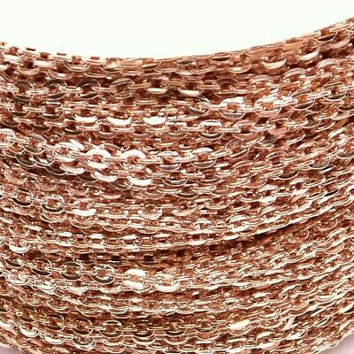 Rose Gold Plated Loose Cable Chain 3 X 2mm Jewellery Making DIY 1m 2m 5 Metres • 2.99£