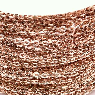 Rose Gold Plated Loose Cable Chain 3 X 2mm Jewellery Making DIY 1m 2m 5 Metres • 4.49£